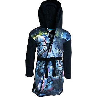 Boys DHQ2062 Star Wars Soft Fleece Hooded Dressing Gown