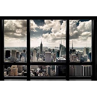 New York Window Poster Print by Steve Kelley (36 x 24)