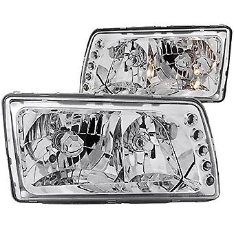 Anzo USA 121157 Mercedes-Benz Chrome Clear Headlight Assembly - (Sold in Pairs)