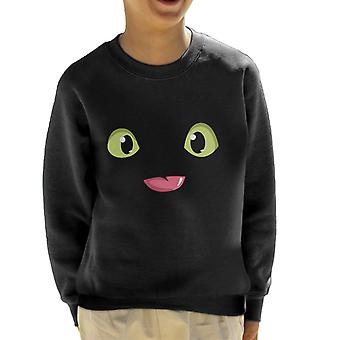 Toothless Eyes Tongue How To Train Your Dragon Kid's Sweatshirt