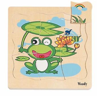 Woody-Boden Puzzle Frosch 90078