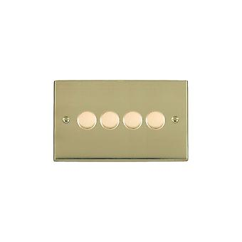 Hamilton Litestat Cheriton Victorian Polished Brass 4g 250W Multi-Way Dim PB