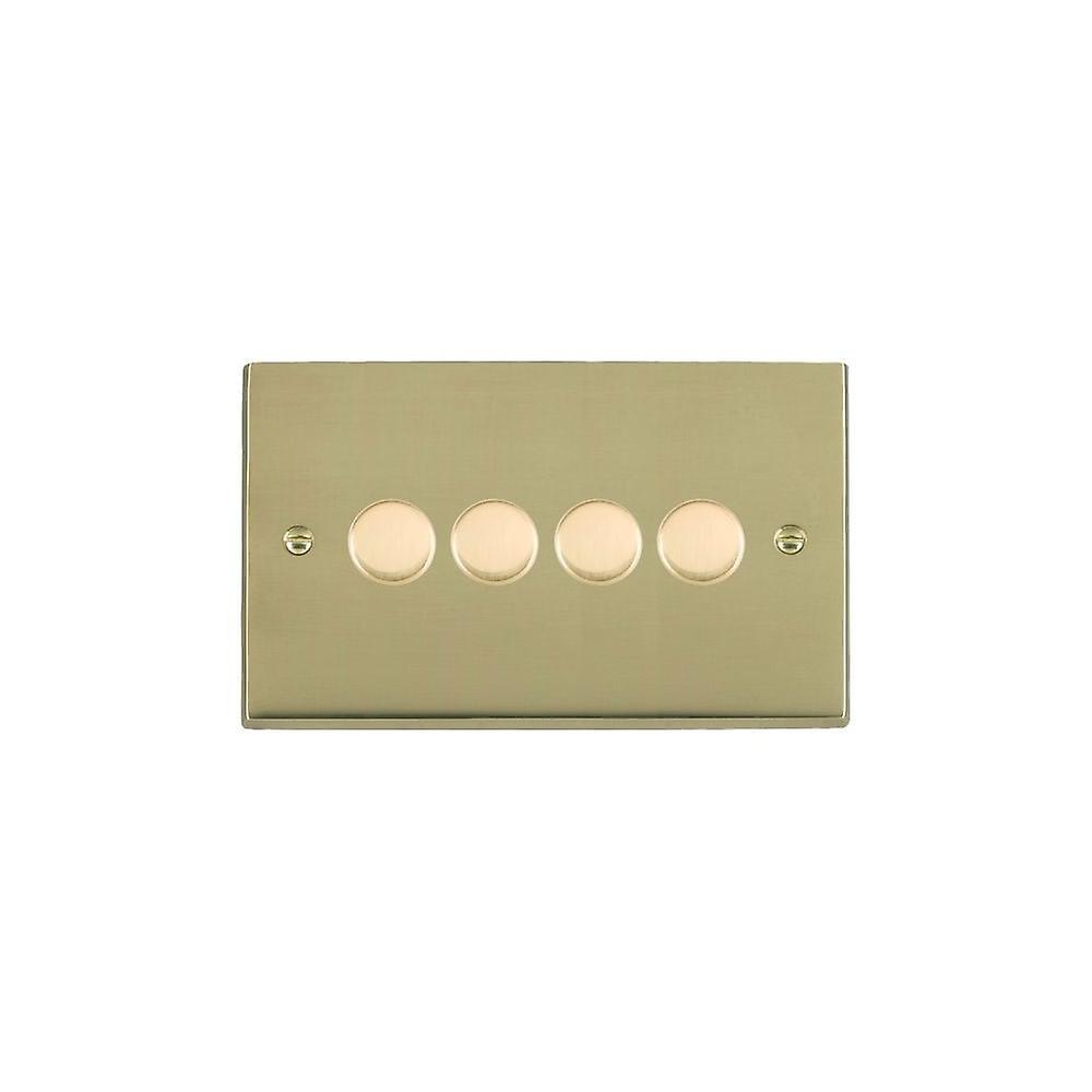 Hamilton Litestat Cheriton Victorian Polished Brass 4g 250W Multi-Way Dim PB