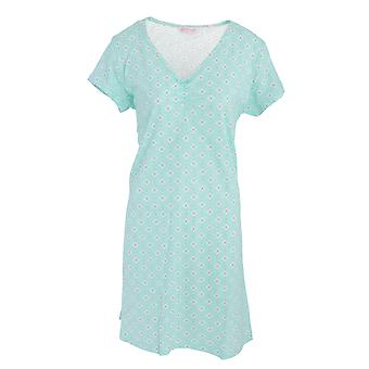 Womens/Ladies Lightweight Cotton Polka Dot/Floral Patterned Nightie