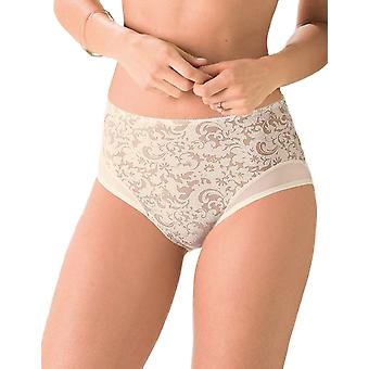 Anita Comfort 1561-709 Women's Ancona Ivory Off-White Floral Full Panty Highwaist Brief