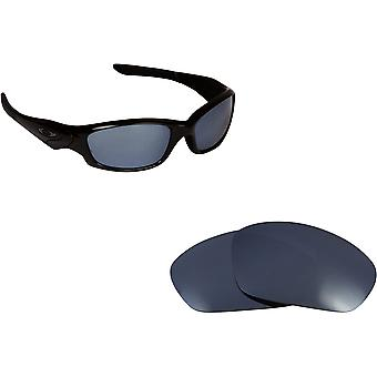 Straight Jacket Replacement Lenses Polarized Black Iridium by SEEK fits OAKLEY