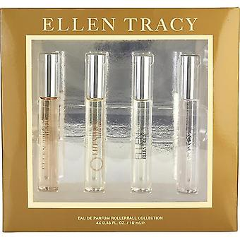Ellen Tracy Variety By Ellen Tracy 4 Piece Mini Variety With Ellen Tracy & Ellen Tracy Bronze & Tracy & Ellen (New) And All Are Eau De Parfum Rollerball .33 Oz Minis