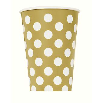 Gold Dot Cups 9�