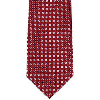 Michelsons of London Classic Cross Neat Silk Tie - Red
