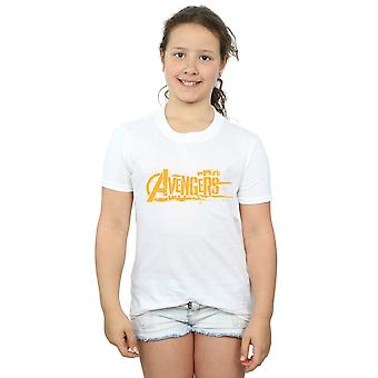 Avengers Girls Infinity War Orange Logo T-Shirt