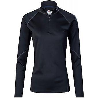 Berghaus Women's Tech Tee LS Zip 2.0 - Black