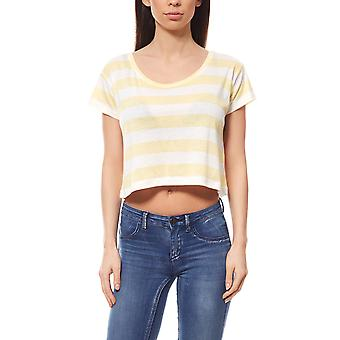 pièces Emma new T-Shirt ladies crop top yellow for summer days