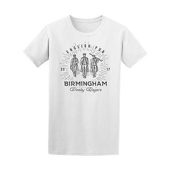 Retro English Pub Birmingham Tee Men's -Image by Shutterstock