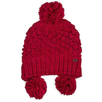 Animal Ladies Pander Knitted Tibetan Bobble Beanie Hat Pink