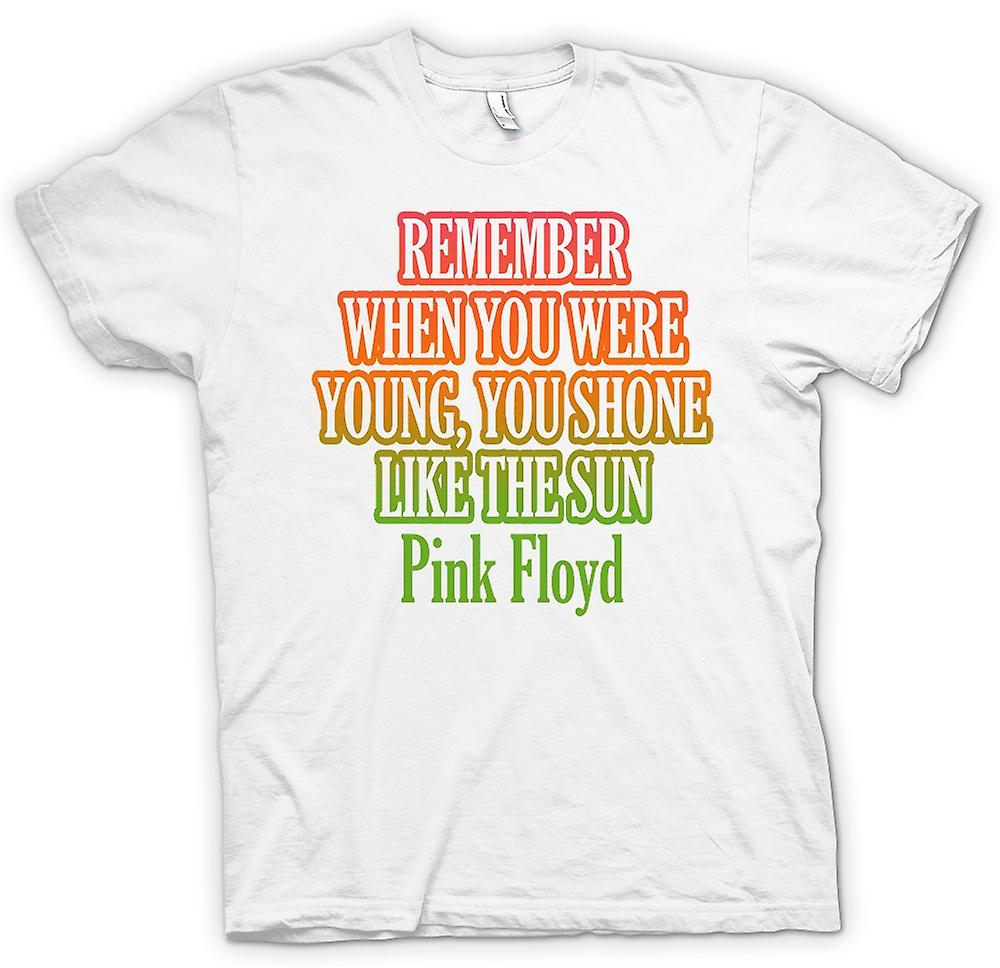 Mens T-shirt - Remember When You Were Young, You Shone Like The Sun