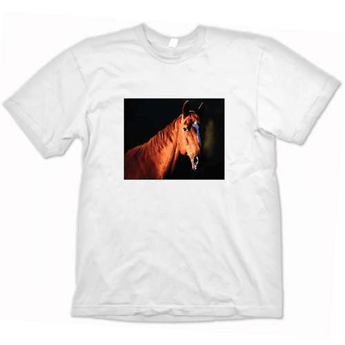 Womens T-shirt - Brown Horse Portrait