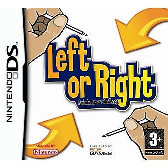 Vänster eller höger Ambidextrous utmaning (Nintendo DS)