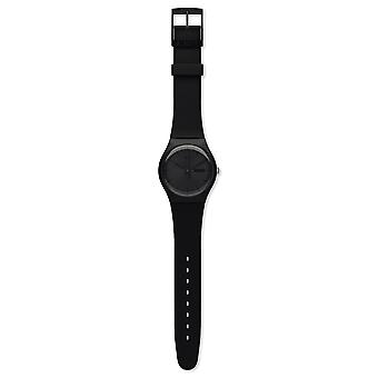 Swatch Suob702 Black Rebel siliconen horloge