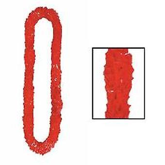 Soft-Twist Poly Leis - rood (1)