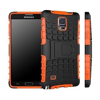 Hybrid case 2 piece SWL robot Orange Samsung Galaxy touch 4 SM-N910 SM-N910F
