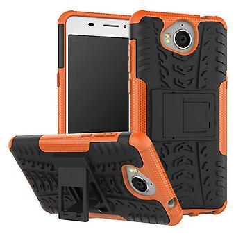 Cassa dell'ibrido 2 pezzo SWL Orange all'aperto per la protezione di Huawei Y6 2017 Borsa Custodia cover