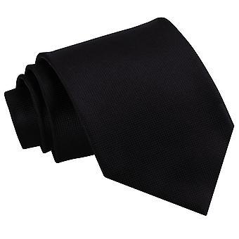 Klassische Krawatte schwarz Solid Check