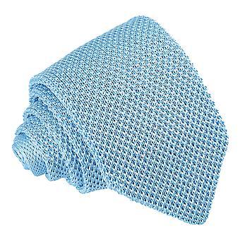 Baby Blue Knitted Slim Tie