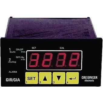 Greisinger GIR 2002 Panel-monteret meter og regulator GIR 2002 0 - 1 V/0 - 2 V/0 - 10 V/0 - 50 mV/4 - 20 mA/0 - 20 mA/0 - 10 kHz/0 - 9999 RPM forsamling