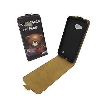 Handyhülle Tasche für Handy Microsoft Lumia 640 Bär mit Kettensäge