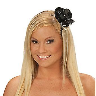 Bandeau de sequin noir chapeau féminin