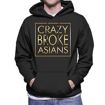Crazy brak Aziaten gouden tekst mannen Hooded Sweatshirt
