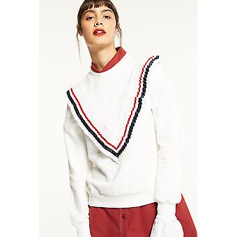 English Factory Sweater With Sport Rib Frill