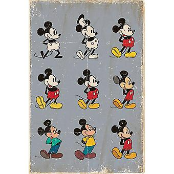 Mickey Mouse poster evolution Walt Disney