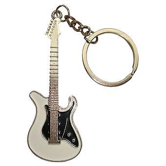 Bassin et porte-clés guitare brun - blanc