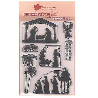 Woodware Clear Stamps - Nativity silhouet