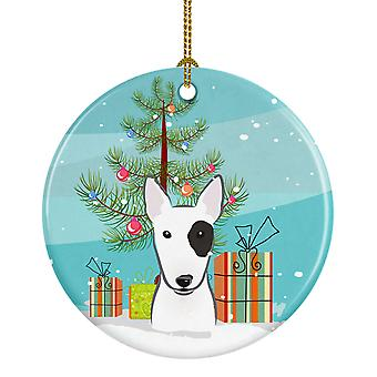Carolines Treasures  BB1581CO1 Christmas Tree and Bull Terrier Ceramic Ornament