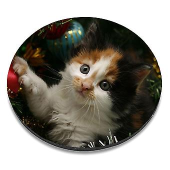 i-Tronixs - Cat Printed Design Non-Slip Round Mouse Mat for Office / Home / Gaming - 8