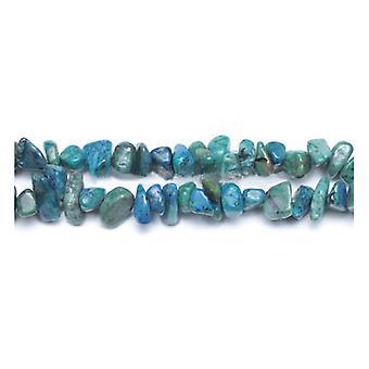 Long Strand 240+ Blue/Green Chrysocolla 5-8mm Chip Beads GS6360