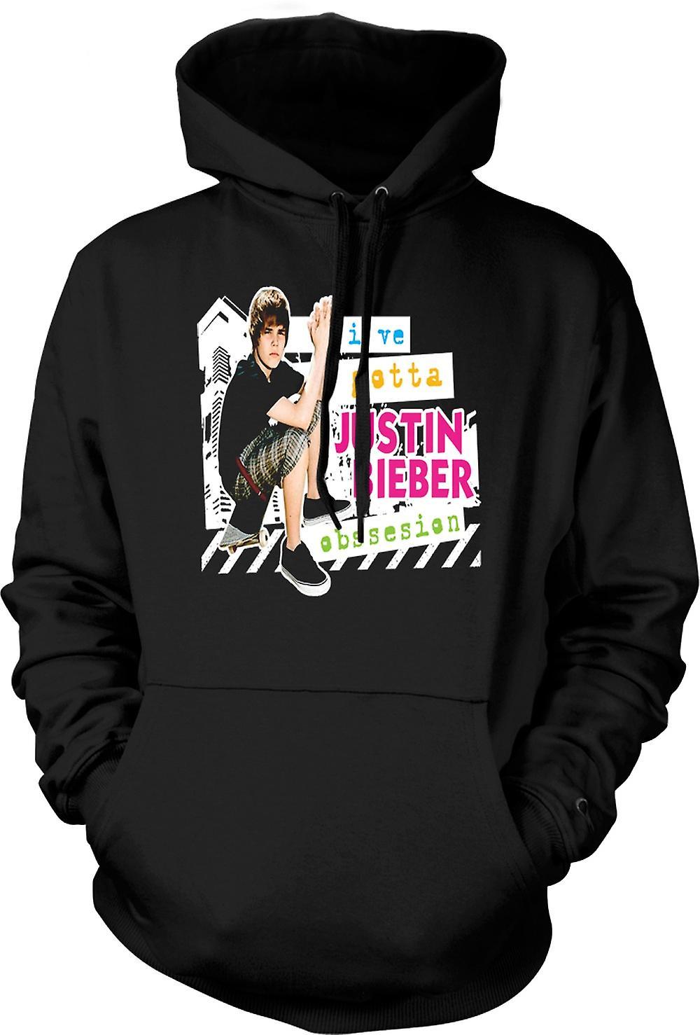 Mens Hoodie - Justin Bieber besatthet