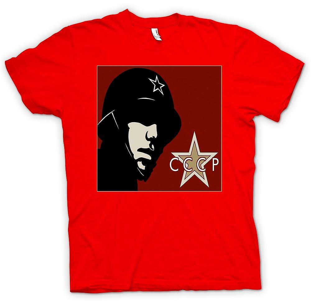 Heren T-shirt - CCCP Russian - Propaganda Poster