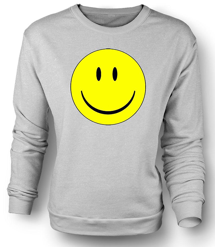 Mens Sweatshirt miley Face - Acid House