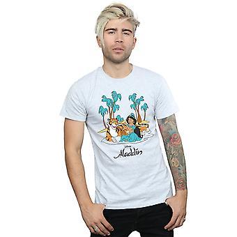 Disney Men's Aladdin Jasmine Abu Rajah Beach T-Shirt