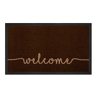 Dirt trapping pad cozy welcome dark brown beige 45 x 75 cm
