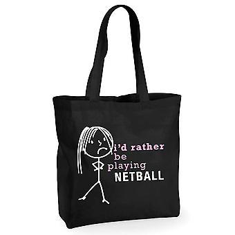 Mesdames je serait plutôt jouer Netball sac à provisions coton noir