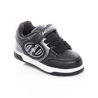Heelys Black-Carbon Plus Lighted Kids Two Wheel Shoe