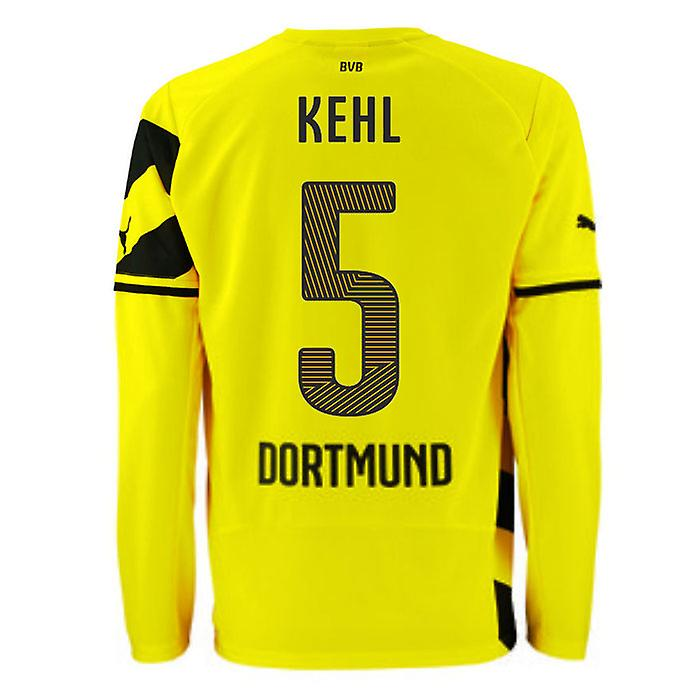 2014-15 Borussia Dortmund Long Sleeve Home Shirt (Kehl 6)