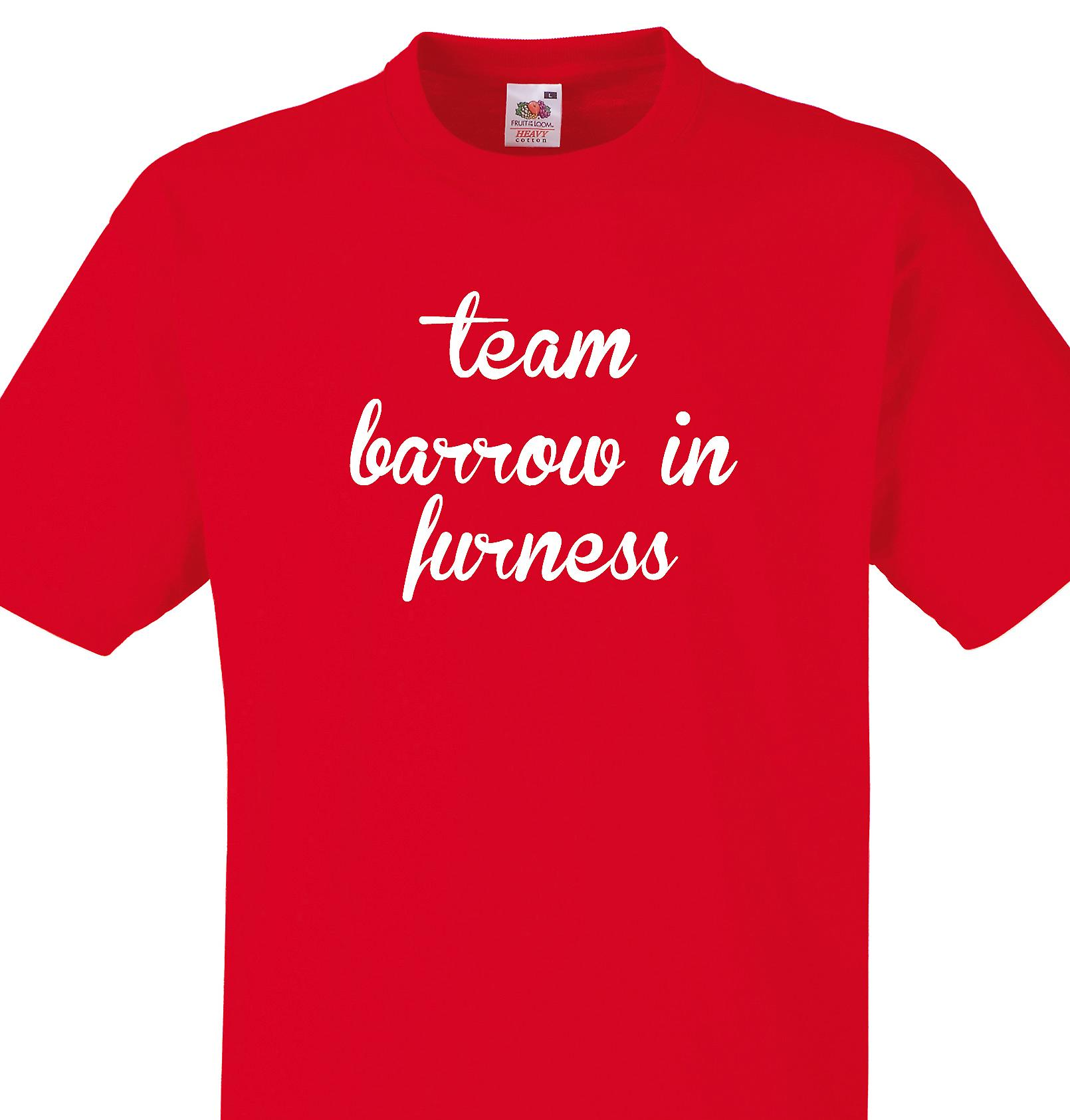 Team Barrow in furness Red T shirt
