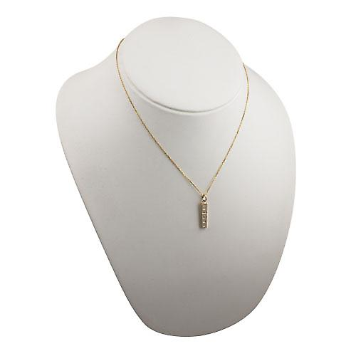 9ct Gold 22x5mm display hallmark Ingot Pendant with a bright cut cable link chain