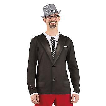 Mens Photorealistic shirt Vintage (L) Fancy Dress Costume