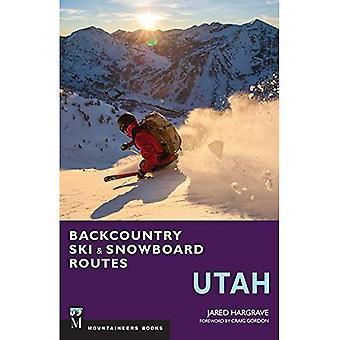 Backcountry skid- och Snowboard rutter Utah